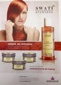 reklama olejku i kosmetyków swati ayurveda
